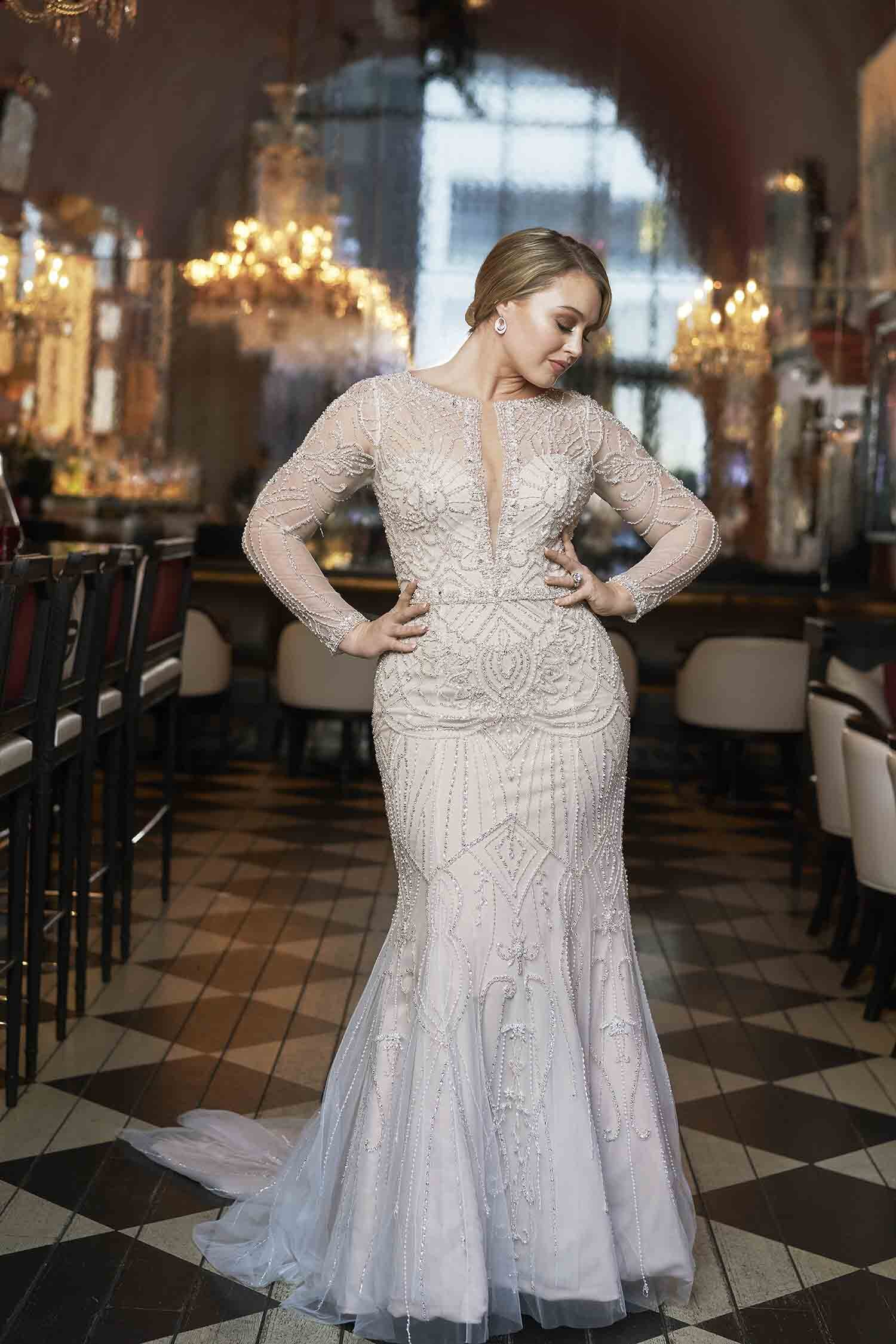 Plus Size Wedding Gowns With Sleeves Uptown Bride,Vintage Style Vintage Flattering Plus Size Wedding Dresses