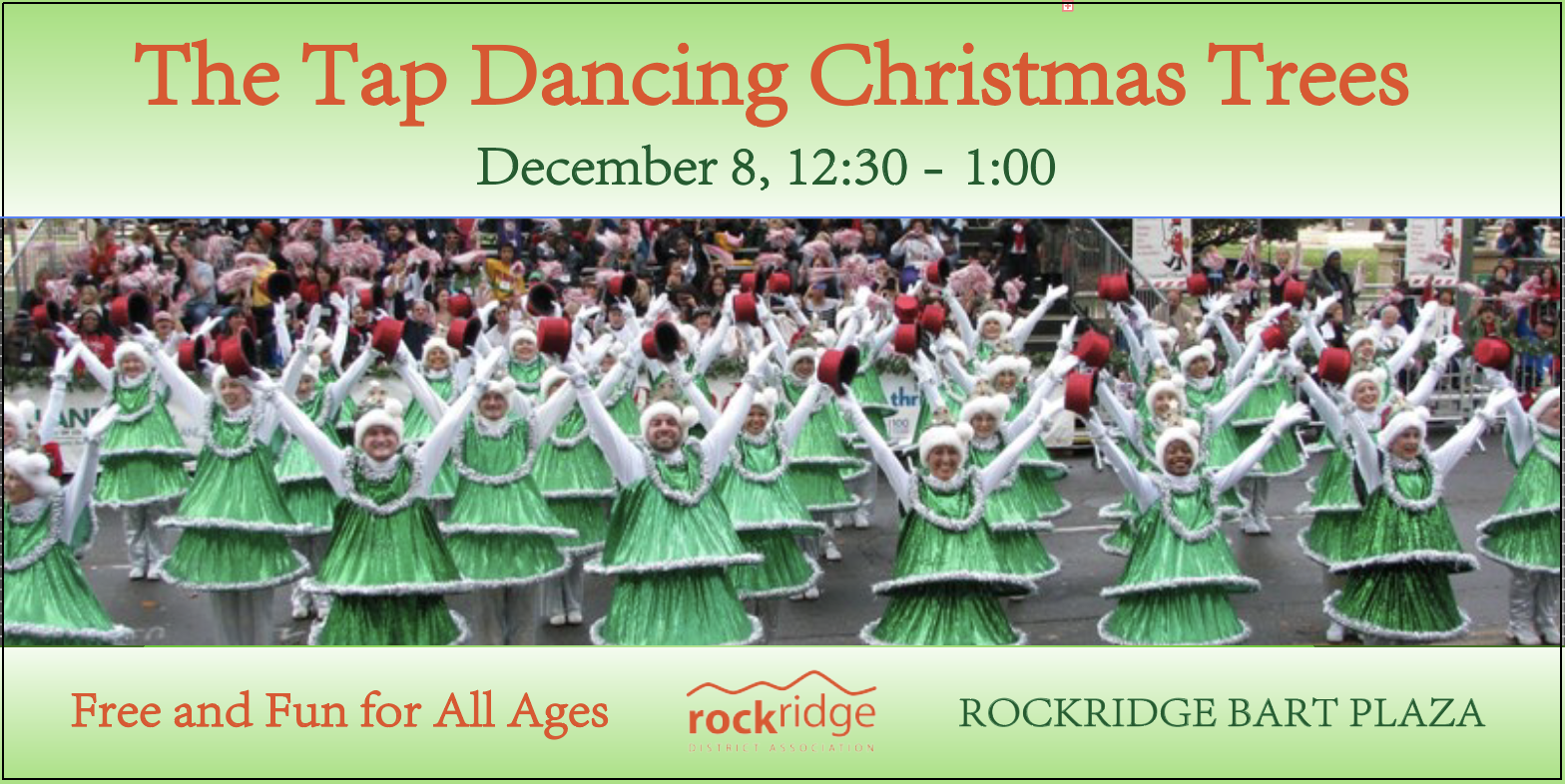 tap dancing Christmas trees