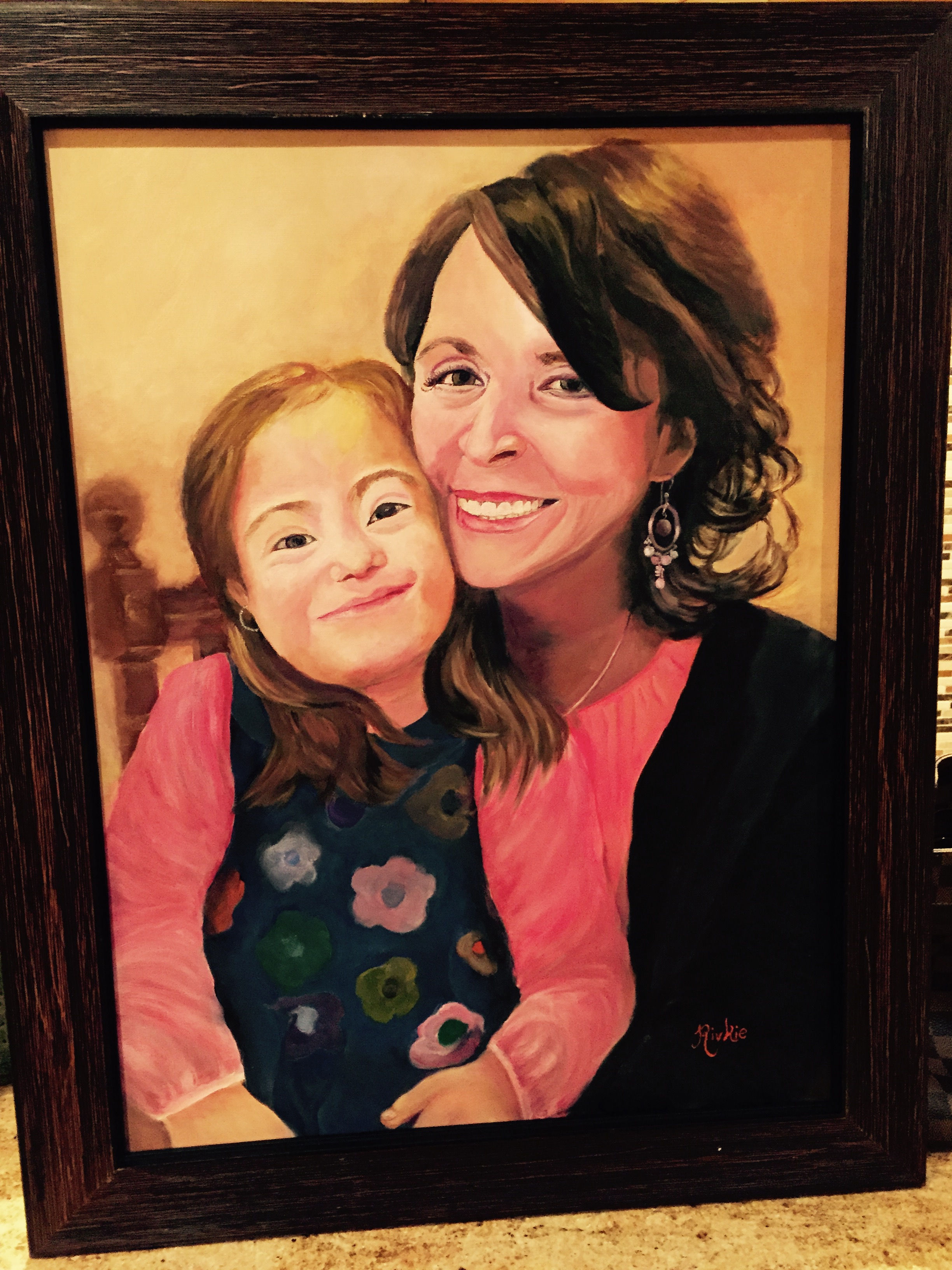 This is a hand painted portrait that Chaya's foster mom made for my mother as a way to thank to her for all that she does for Chaya. It was a beautiful gift.