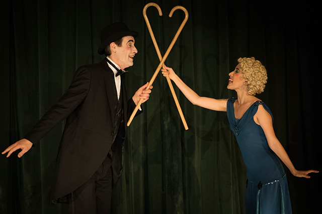 Anthony Cistaro and Jessica Waldman in 'The Speakeasy.' Photo: Peter Liu