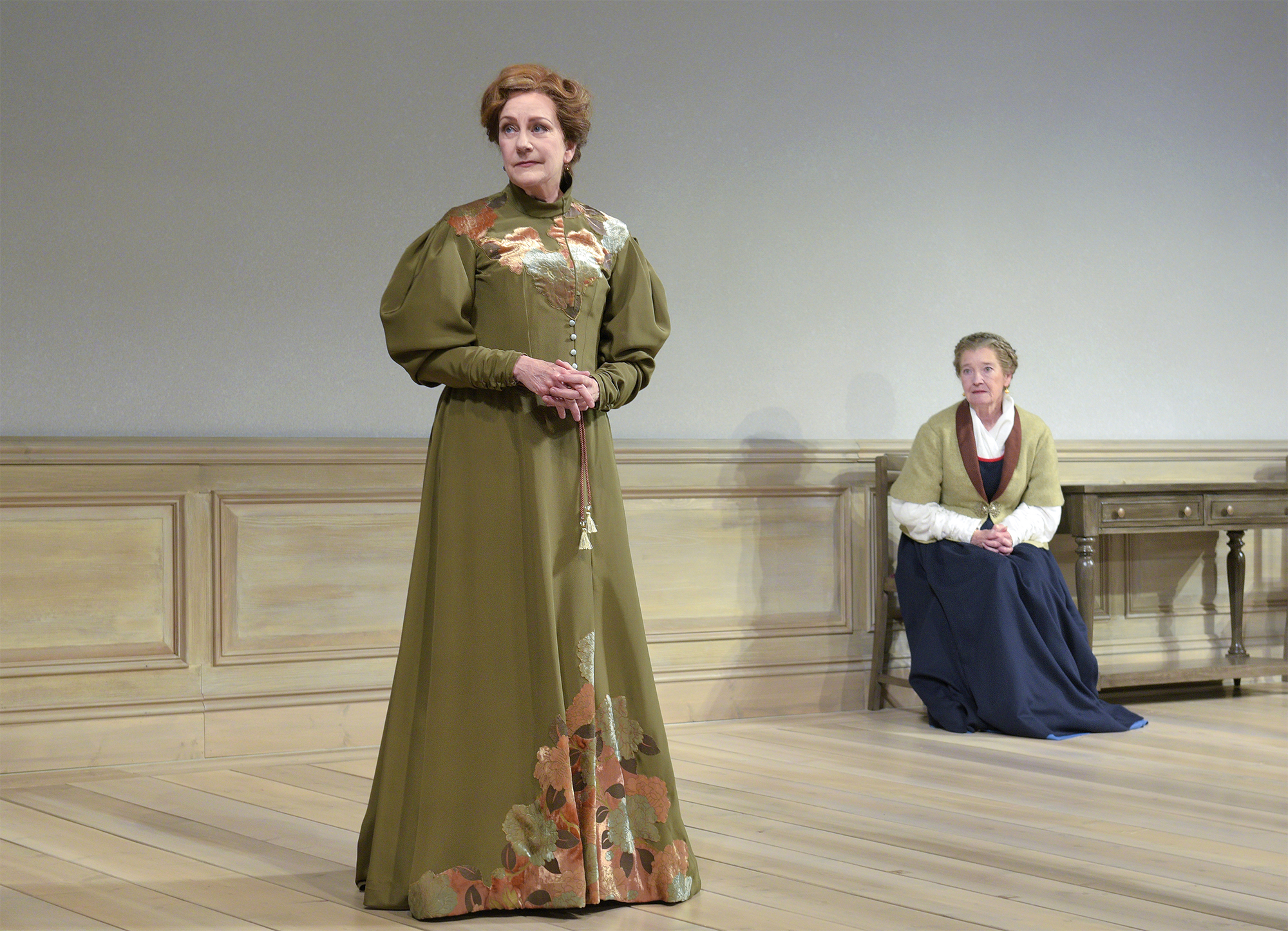 Mary Beth Fisher (Nora) and Nancy E. Carroll (Anne Marie) in Berkeley Rep's production of  A Doll's House, Part 2  directed by Les Waters. Photo: Kevin Berne