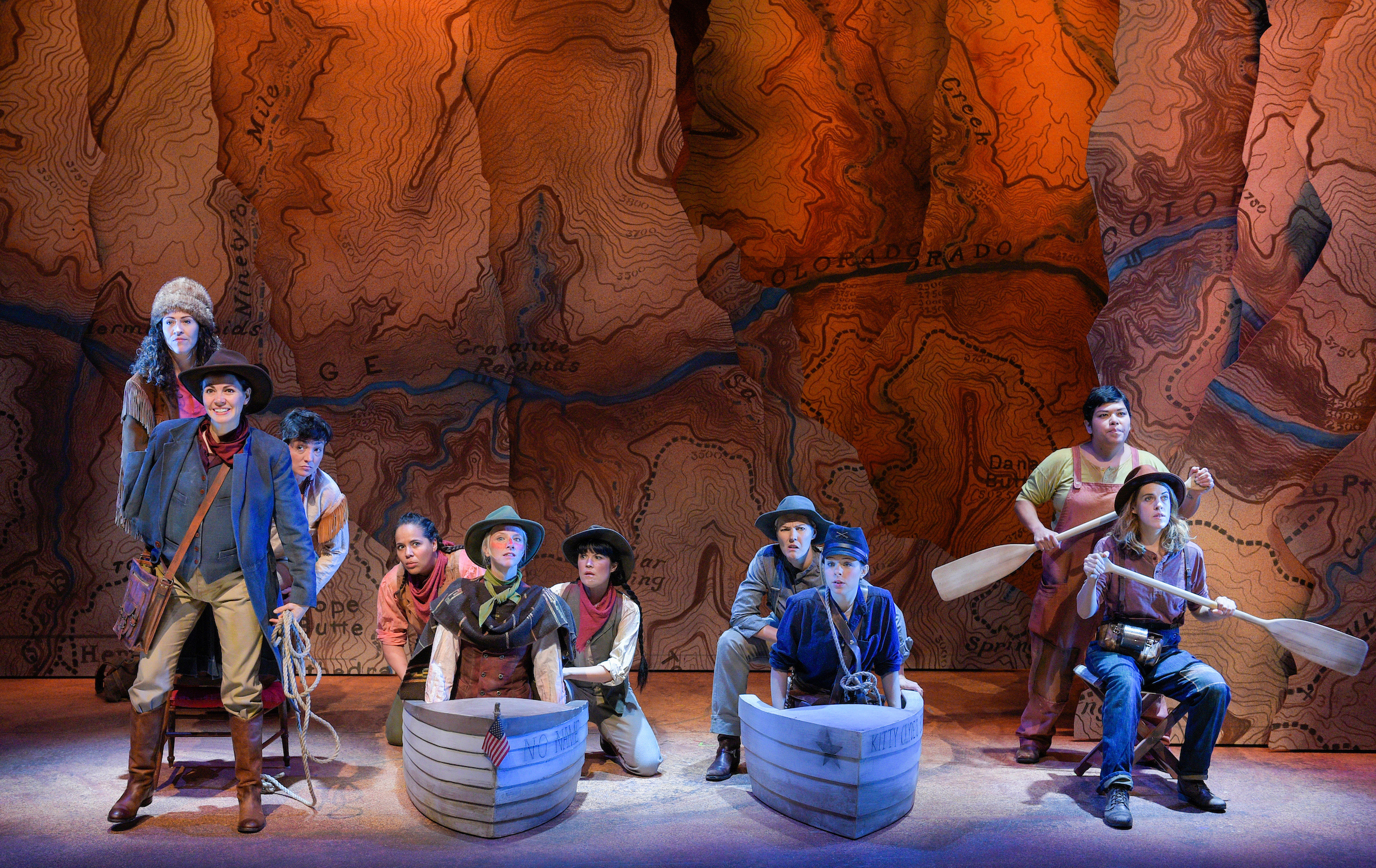 The cast of  Men on Boats . Photo: Kevin Berne
