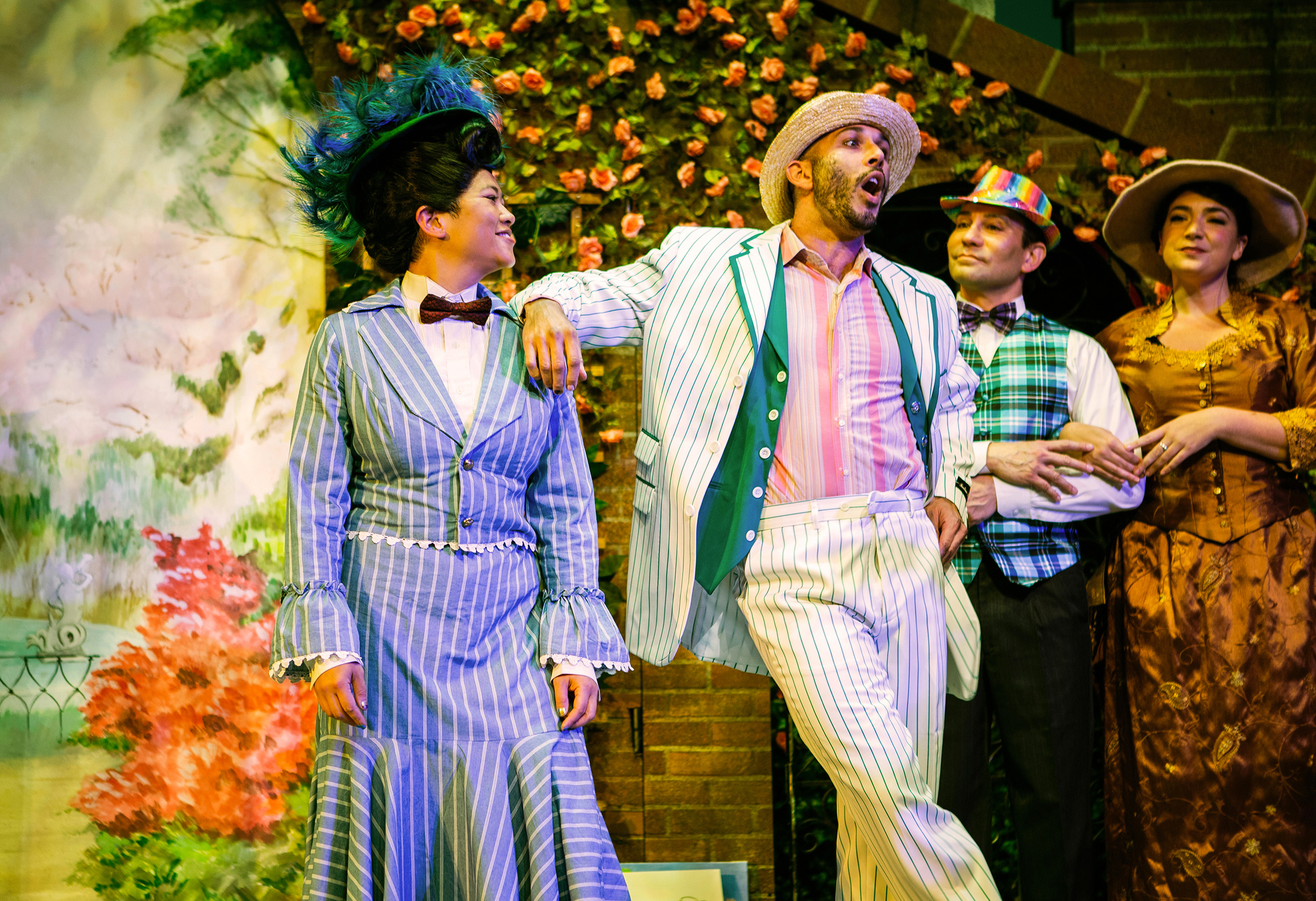 El Beh as Mary and Wiley Naman Strasser as Bert in SF Playhouse's Mary Poppins. Photo: Jessica Palopoli