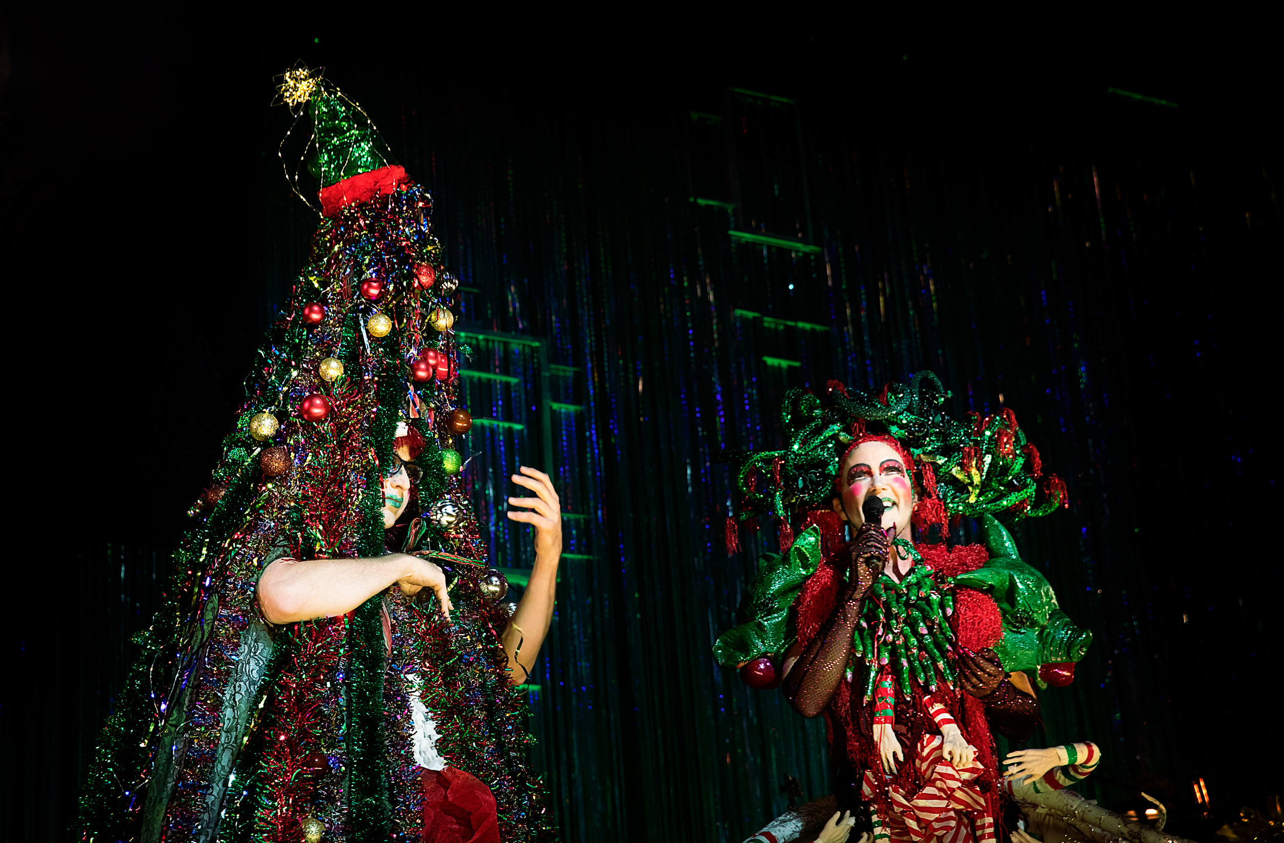 "Machine Dazzle and Taylor Mac in ""Taylor Mac's Holiday Sauce."" Photo: Little Fang Photography"