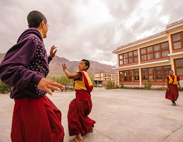 We played handball with a group of young Buddhist Monks in the Himalayan Mountain Range of Northern India. This is one of those things that I'll remember for the rest of my life, I hope that I will cross paths with these kids again some day in the future.