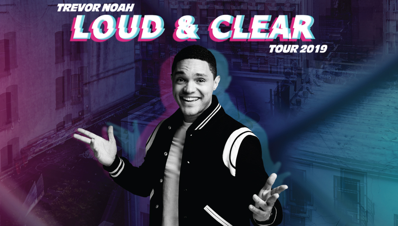 "Trevor Noah: Loud & Clear Tour - Trevor Noah, Emmy-winning host of The Daily Show and celebrated comedian, is known around the world for his insightful and authentic take on politics and current events. Enjoy an evening with Trevor Noah during his ""Loud & Clear Tour"" on Saturday, December 14, 2019 at the Moda Center. Expect to laugh and be enlightened as his intelligence shines in his humor, and leave with memorable quotes for the heart!"
