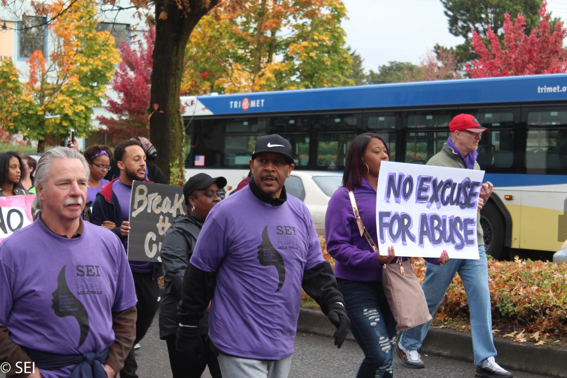 Tony Hopson, Sr. at  The Purple Mile Walk 2018