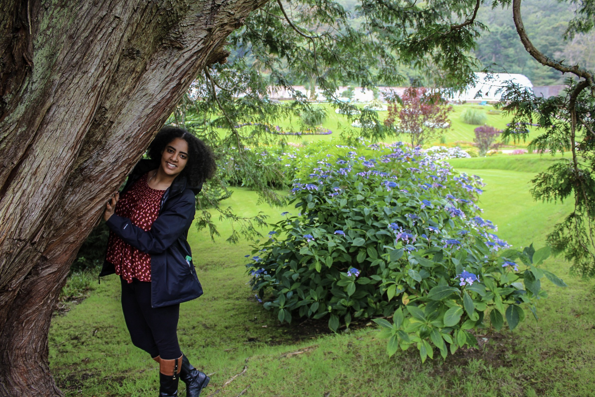Enjoying frolicking around in the gardens of the Kylemore Abbey.