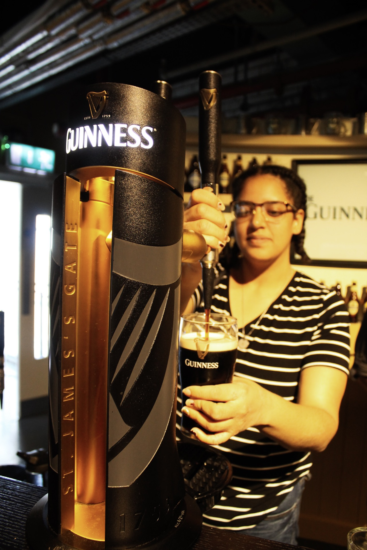 I learned how to pour the perfect glass of Guinness!