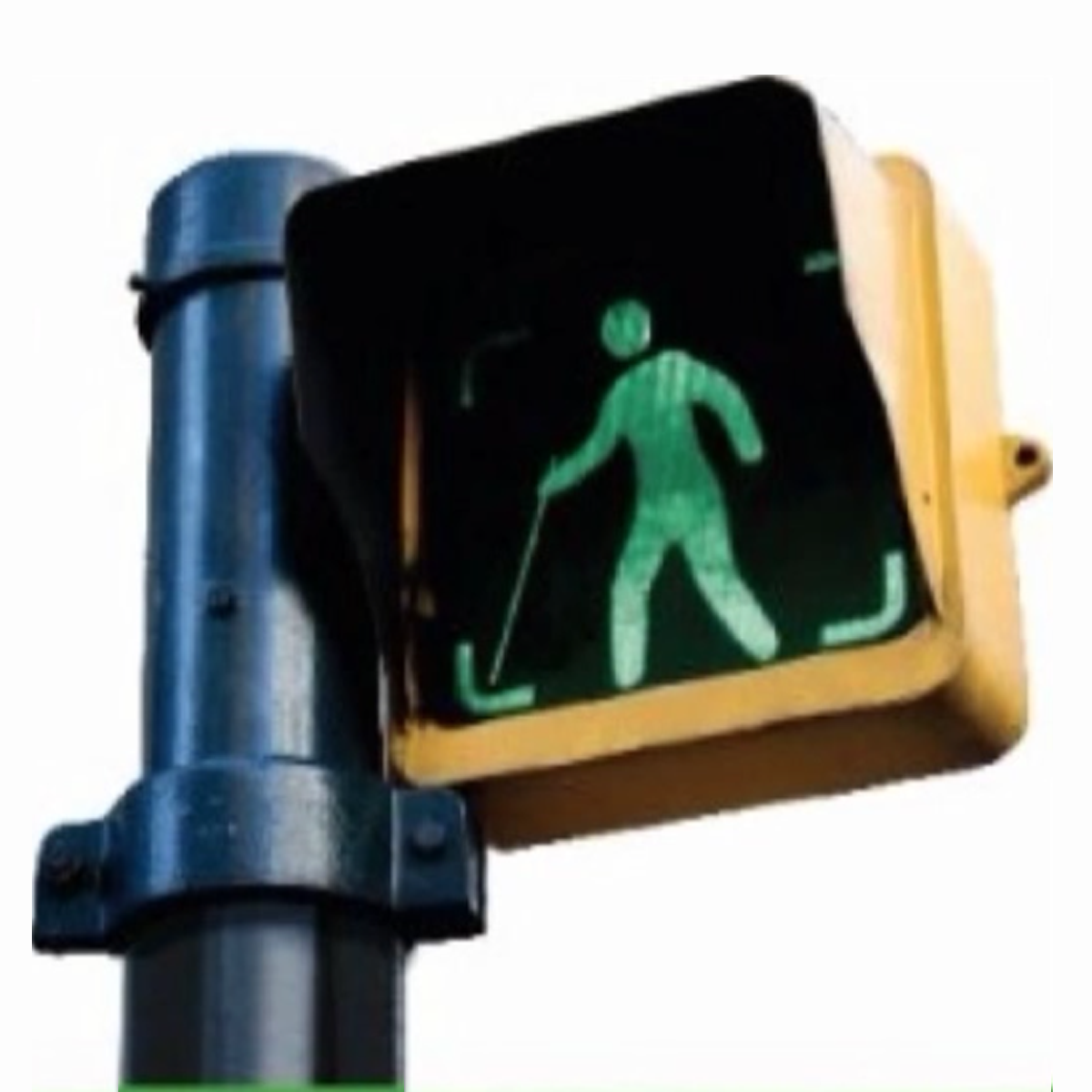 Logo for Argentina's green cane law, which designates people with low vision.
