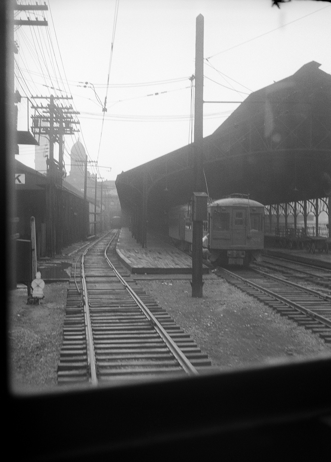 Baltimore &Annapolis Railroad Car at Camden Station. Baltimore, Maryland Date: 1940's. Source: Hugh Hayes Collection.