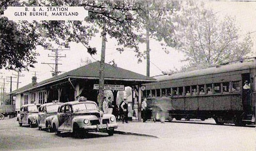 Baltimore & Annapolis Railroad, Glen Burnie Station. Glen Burnie, Maryland Date: Unknown. Source: Unknown.