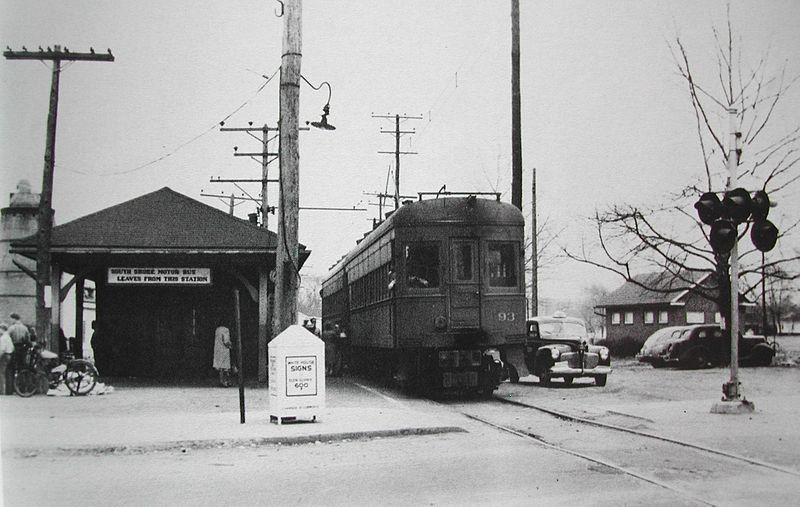 Baltimore & Annapolis Railroad Car #93 at Glen Burnie Station. Glen Burnie, Maryland Date: 1941. Source: Unknown.