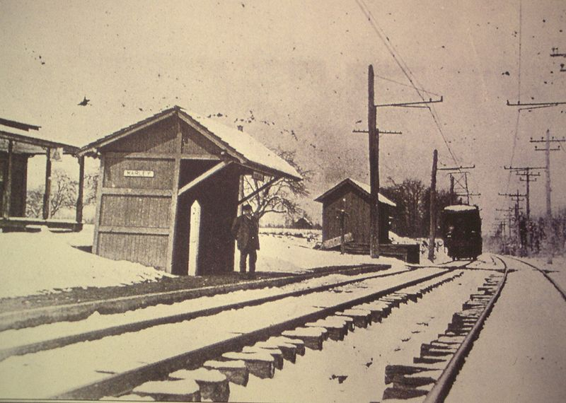 Baltimore & Annapolis Railroad Marley Station. Maryland Date: 1944. Source: Unkown.