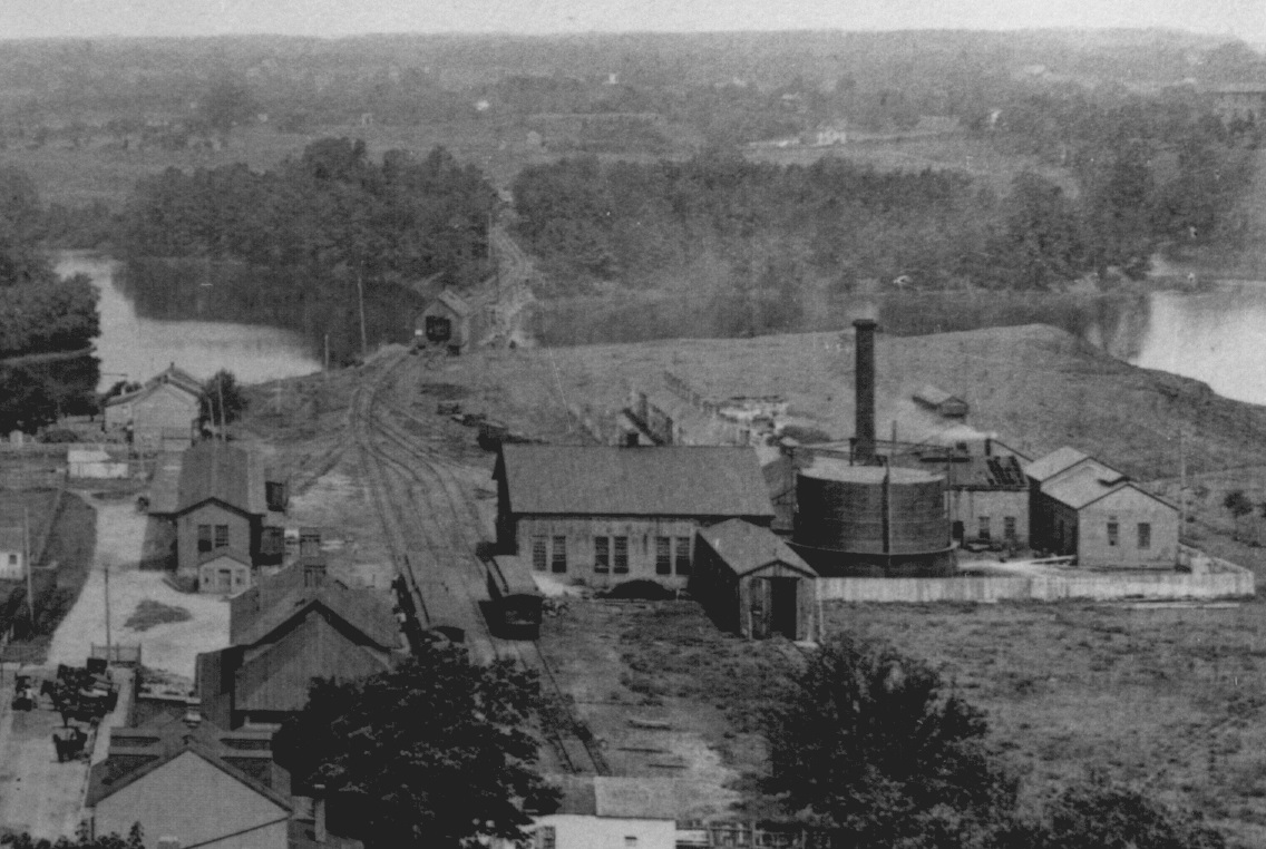 Looking down on Bladen Street Station from the Maryland State House. Annapolis, Maryland. Circa 1895. Source: Maryland State Archives.
