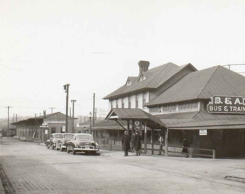 Baltimore & Annapolis Railroad, Bladen Street Station. Annapolis, Maryland Date: 1/22/1950. Source: Unknown.
