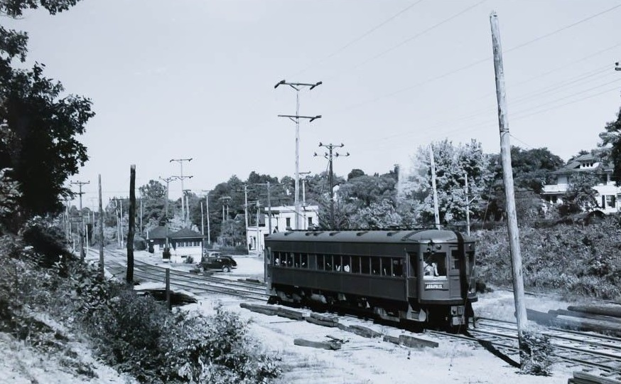 Baltimore & Annapolis Railroad Car in Linthicum. Linthicum, Maryland Date: Unknown. Source: Unknown.