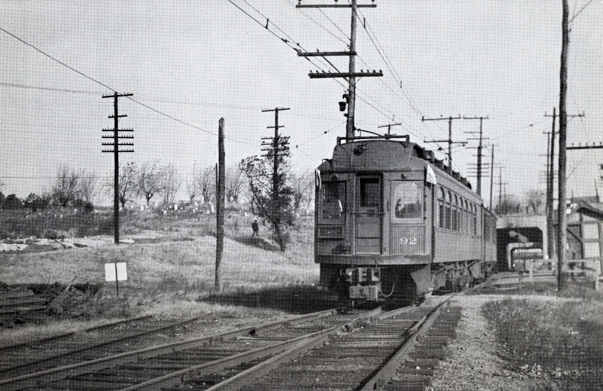 Baltimore & Annapolis Railroad Car #92 at Westport Station. Date: November 1941. Source: R.S. Crockett Collection.