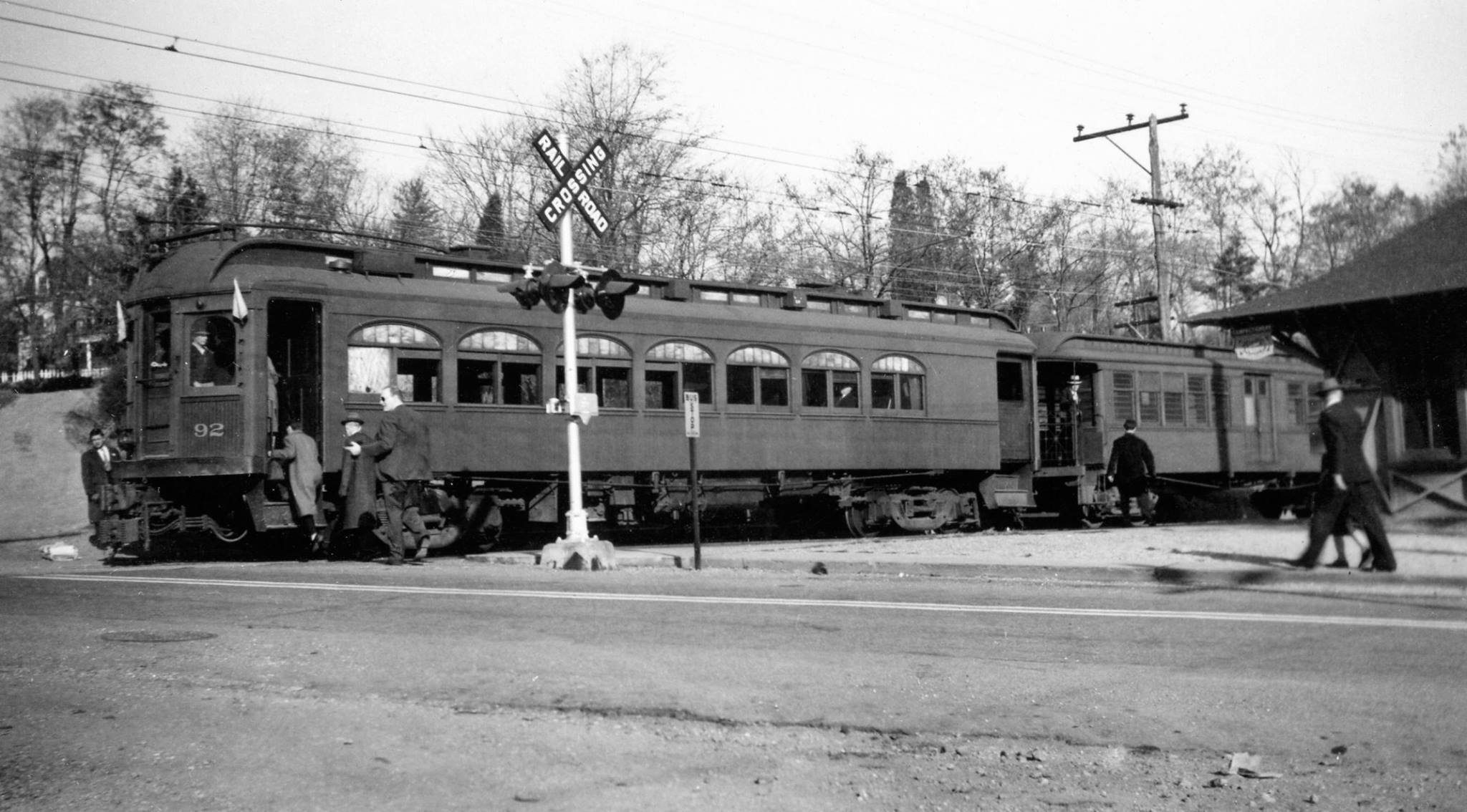 Baltimore & Annapolis Railroad Car #92 at Linthicum Station. Date: November 18, 1941. Source: Charles Wagner Collection.