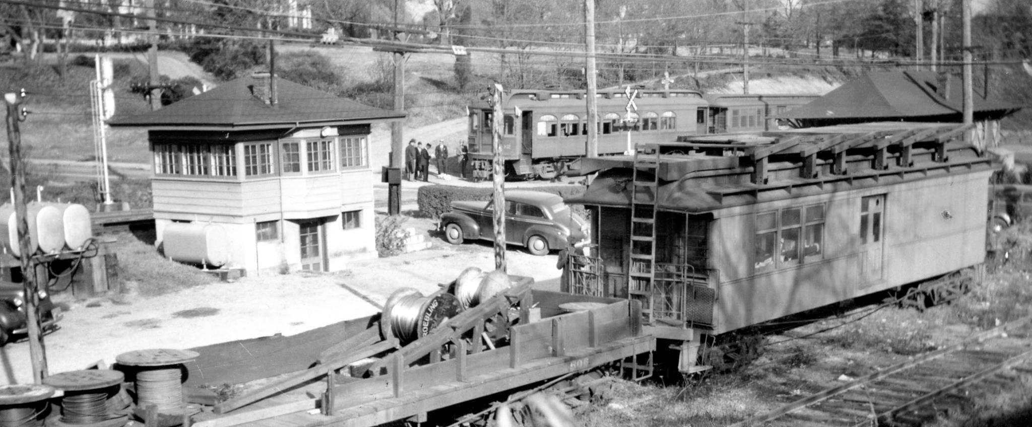 Baltimore & Annapolis Railroad Car at Linthicum Station. Date: November 16, 1941. Source: Charles Wagner.