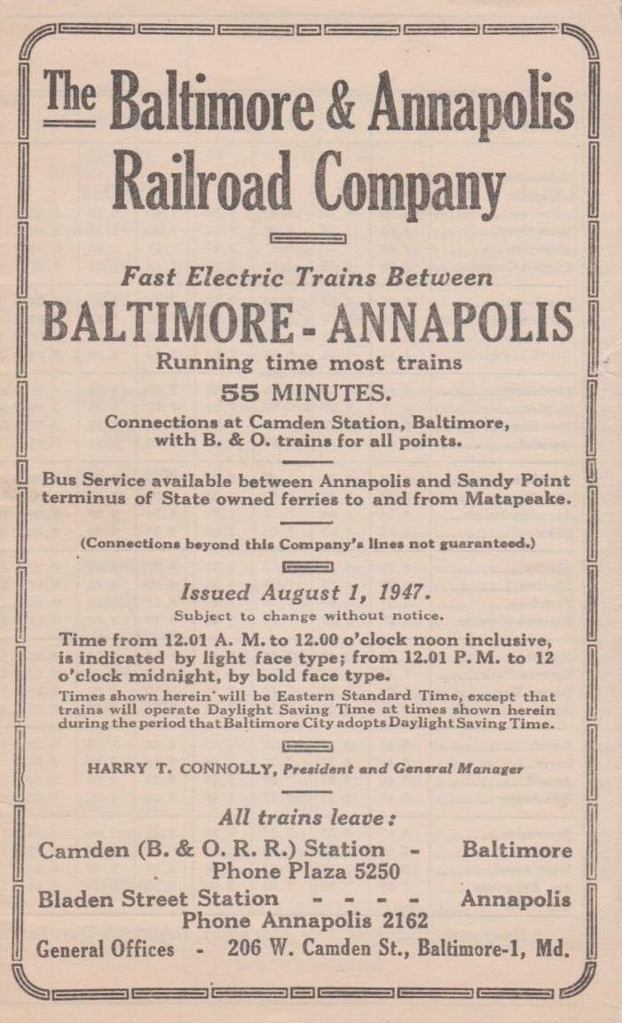 Baltimore & Annapolis Railroad