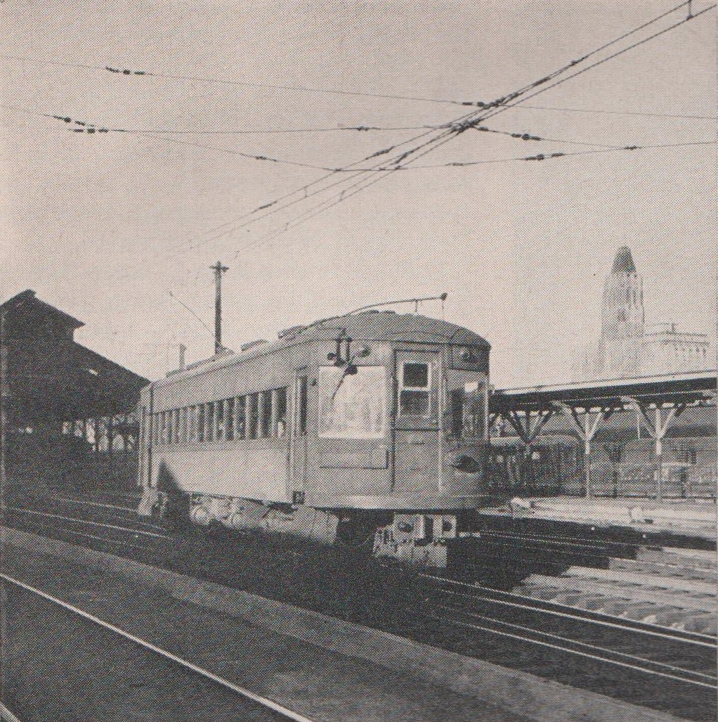 Baltimore & Annapolis Railroad Car leaving Camden Station. Baltimore, Maryland Date: 1940s. Source: William D. Middleton Collection.