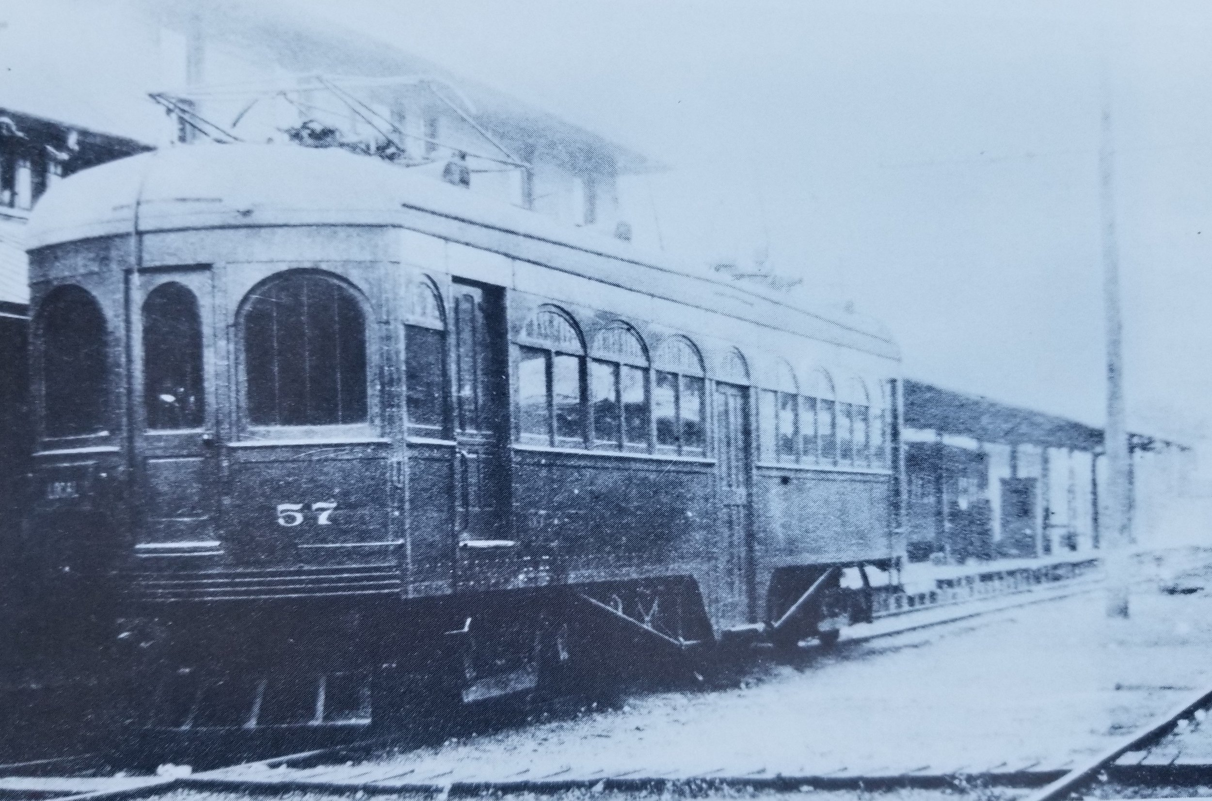 Baltimore & Annapolis Railroad Car #57 at Bladen Street Station. Annapolis, Maryland Date: Unknown. Source: King Collection.