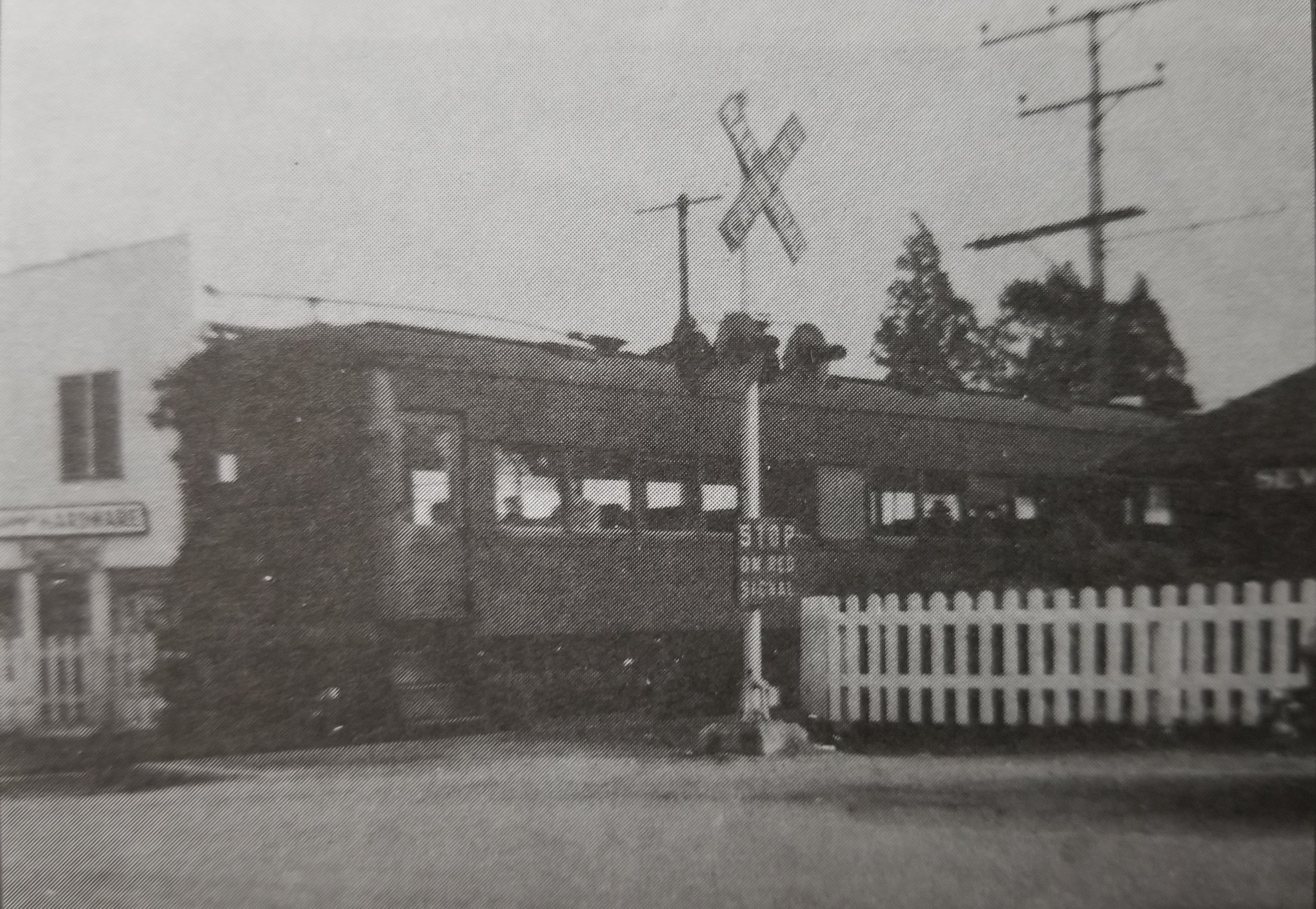 Baltimore & Annapolis Railroad Car at Severna Park Station. Severna Park, Maryland Date: Unknown. Source: Severna Park Reflections, Mildred E. Rund Collection.