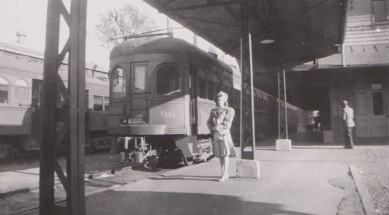 Baltimore & Annapolis Railroad Car at Bladen Street Station. Annapolis, Maryland Date: 10/21/1941. Source: Hugh Hayes Collection.