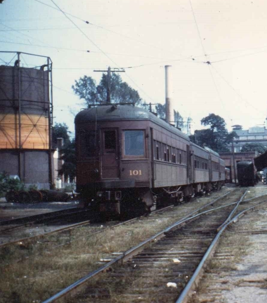 Baltimore & Annapolis Railroad Cars at Bladen Street Station in Annapolis. Annapolis, Maryland Date: Unknown. Source: Unknown.