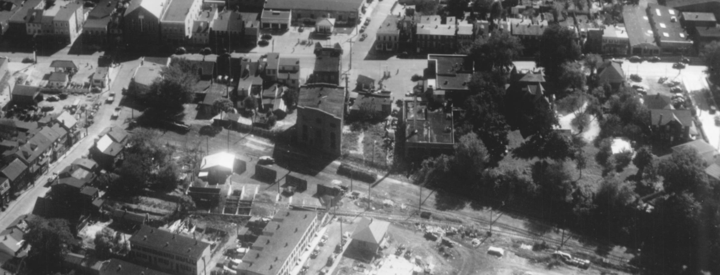 Looking at West Street and WB&A West Street Station. Annapolis, Maryland Date: Unknown. Source: Maryland State Archives.