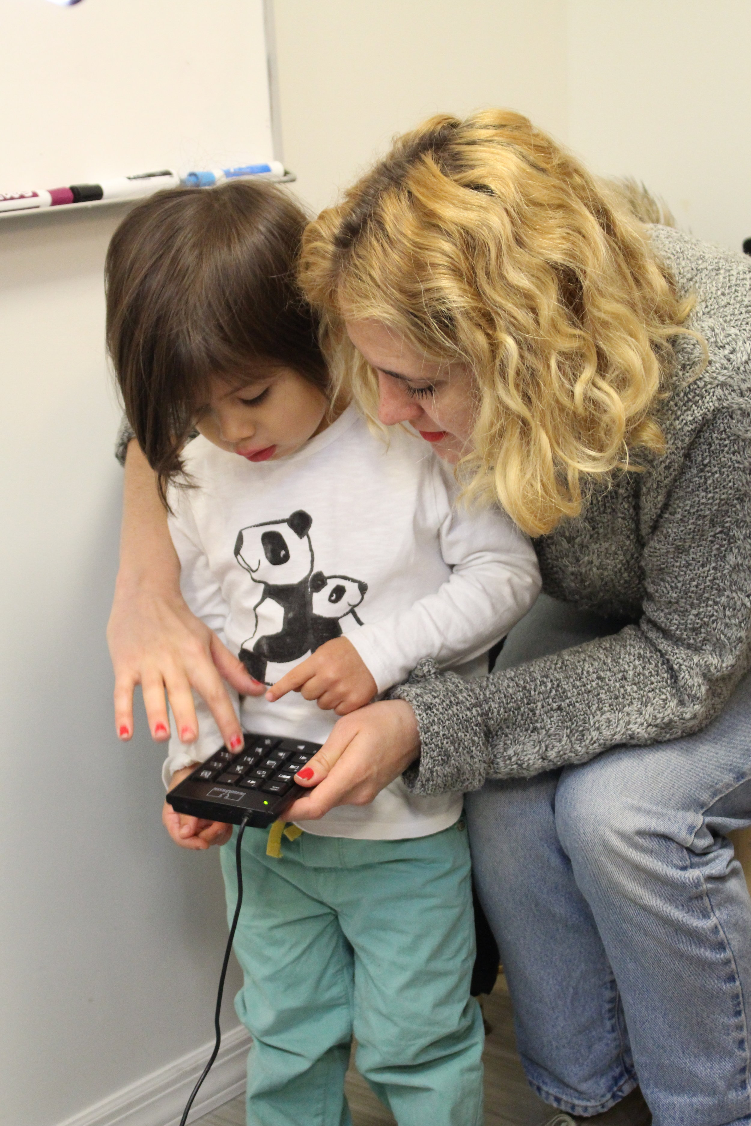 Founder Laura Bellmont works with three years old.