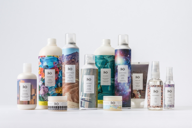 R+Co Hair Product Line Image, Locally Available at Lavender and Lace Hair SalON