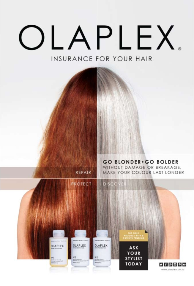 olaplex comparison photo with great results