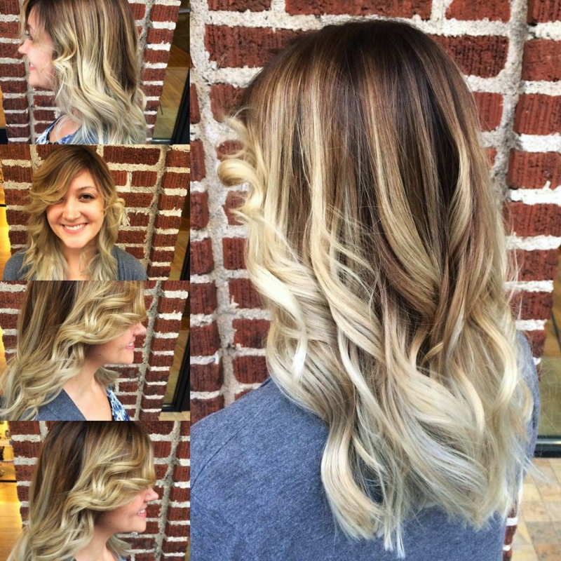 Hillary Loves Hair Salon Asheville NC Color beautiful balayage Hair Stylist Hillary Small