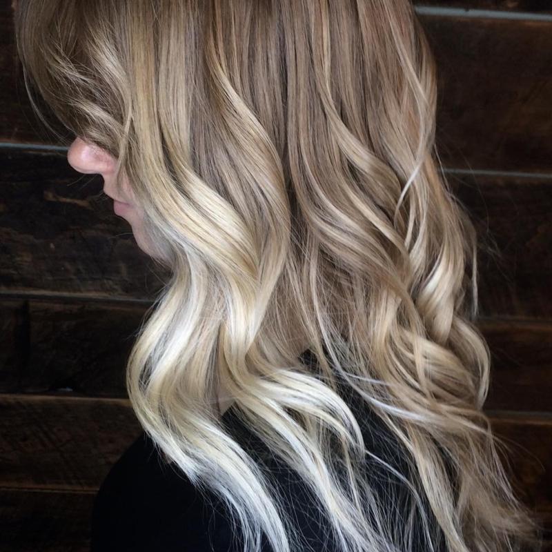 Hillary Loves Hair Salon Asheville NC Hair color transformation beautiful color melt Hair Stylist Hillary Small