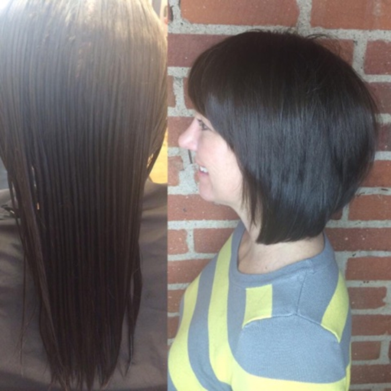 Hillary Loves Hair Salon Asheville NC Beautiful cut color blow dry style transformation Hillary Small