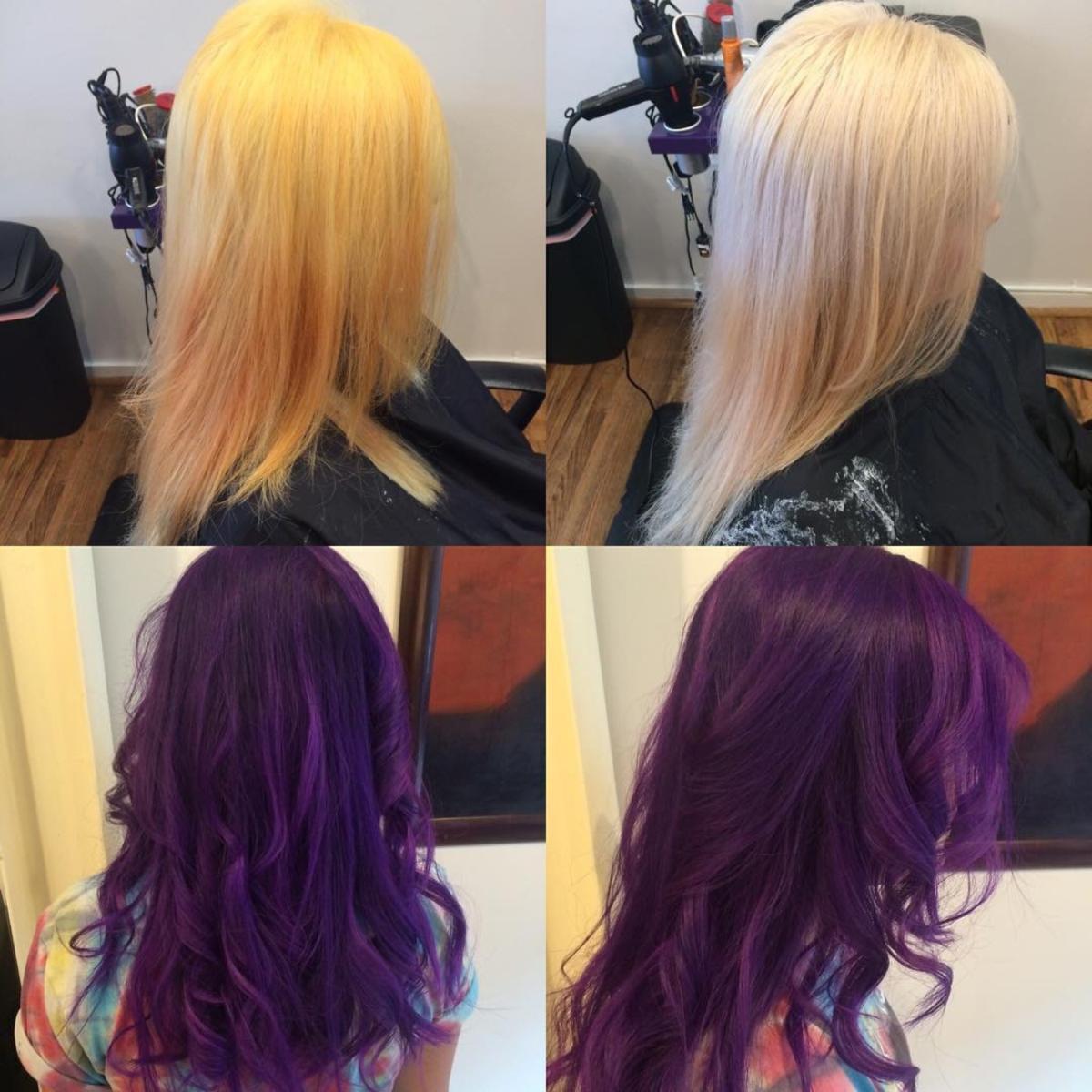 Hillary Loves Hair Salon Asheville NC Color Big Process Big Reveal Hair Stylist Hillary Small