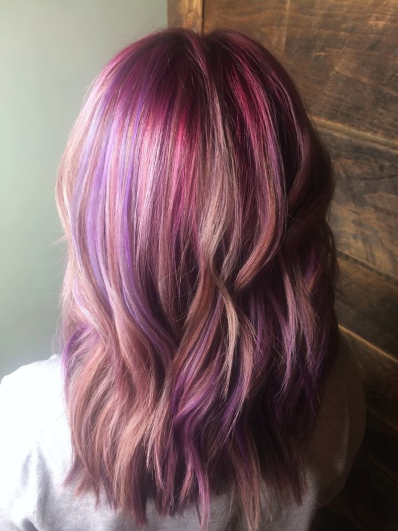 Hillary Loves Hair Salon Asheville NC Guy Tang mydentity dusty lavender and rose colors, Hair Color Vivid Colors