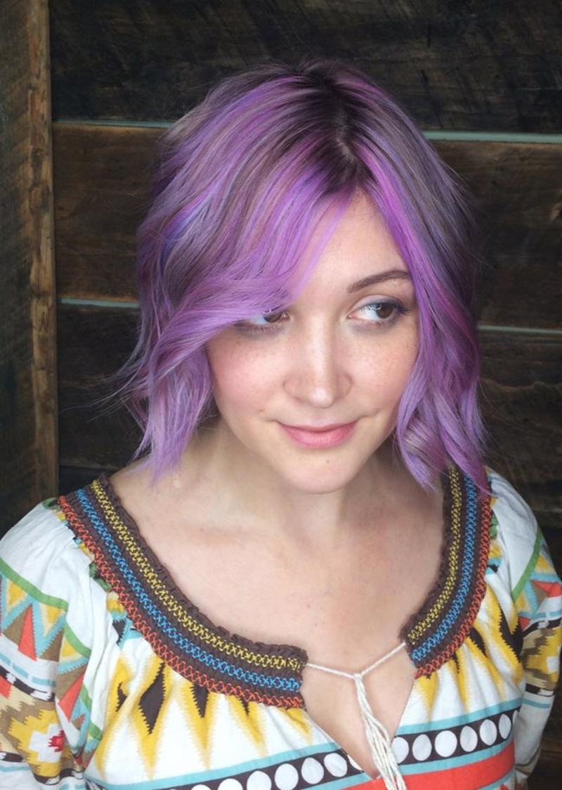 Hillary Loves Hair Salon Asheville NC Hair color lavender love Hair Stylist Hillary Small