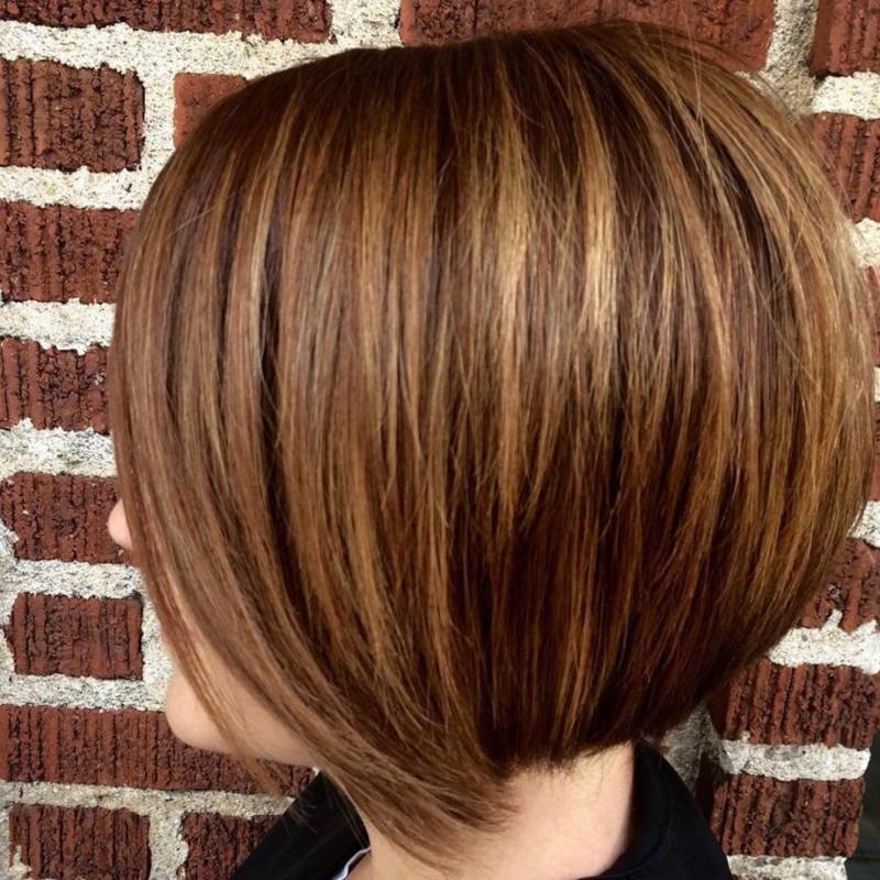 Hillary Loves Hair Salon Asheville NC Haircut Color Style Blowdry precision haircut w/ rich tones Hillary Small