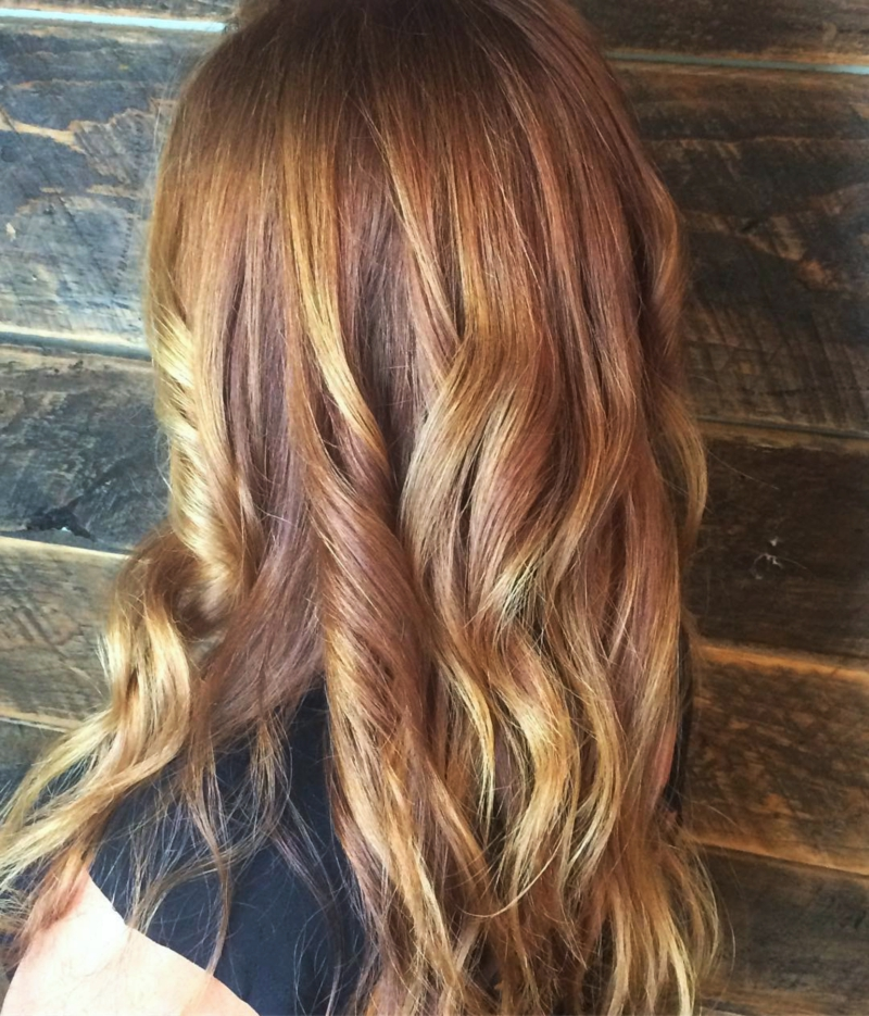 Hillary Loves Hair Salon Asheville NC Haircut, Color and Style rich fall colored red hair transformation
