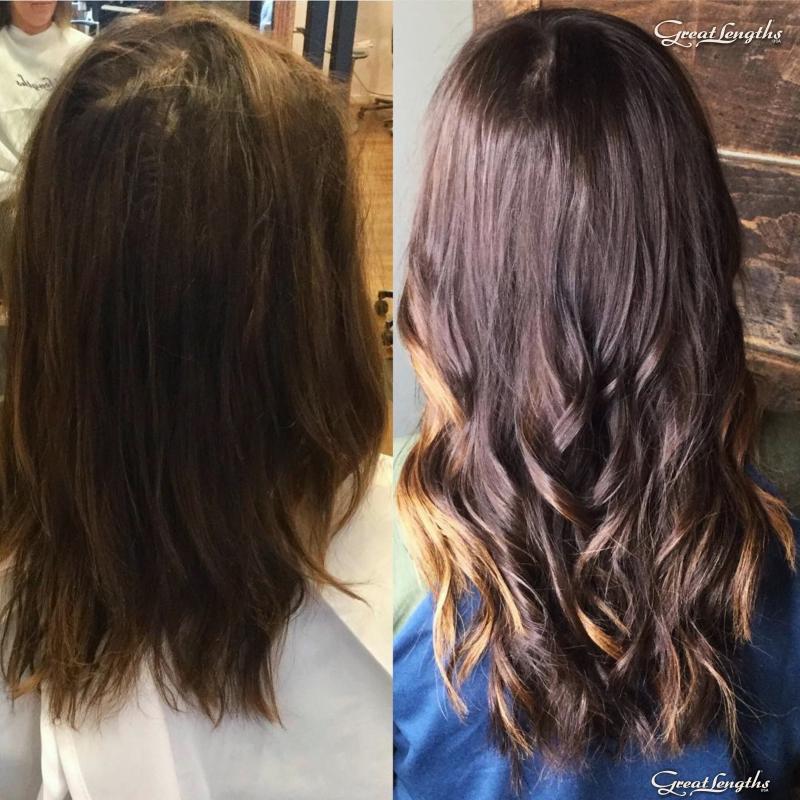 Hillary Loves Hair Salon Asheville NC Great Lengths hair extension Keratin Bonds Hillary Small