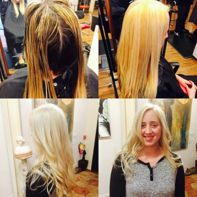 Client loves HAIR COLOR TRANSFORMATION BY HILLARY LOVES HAIR ASHEVILLE HAIR SALON