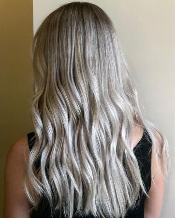 Hillary Loves Hair Salon Stylist Asheville NC Icy Blonde Hair Color