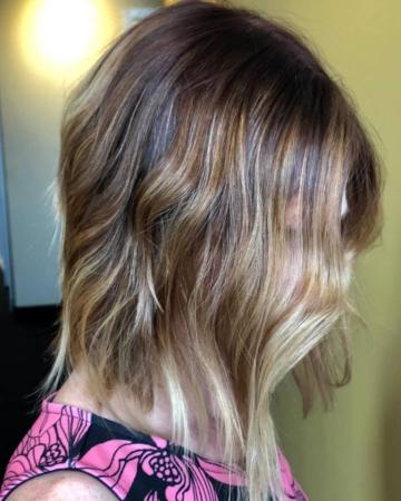 Hillary Loves Hair Salon Asheville NC Textured Bob Hair Stylist Short Hair
