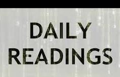 get a book with daily readings and read one in the morning