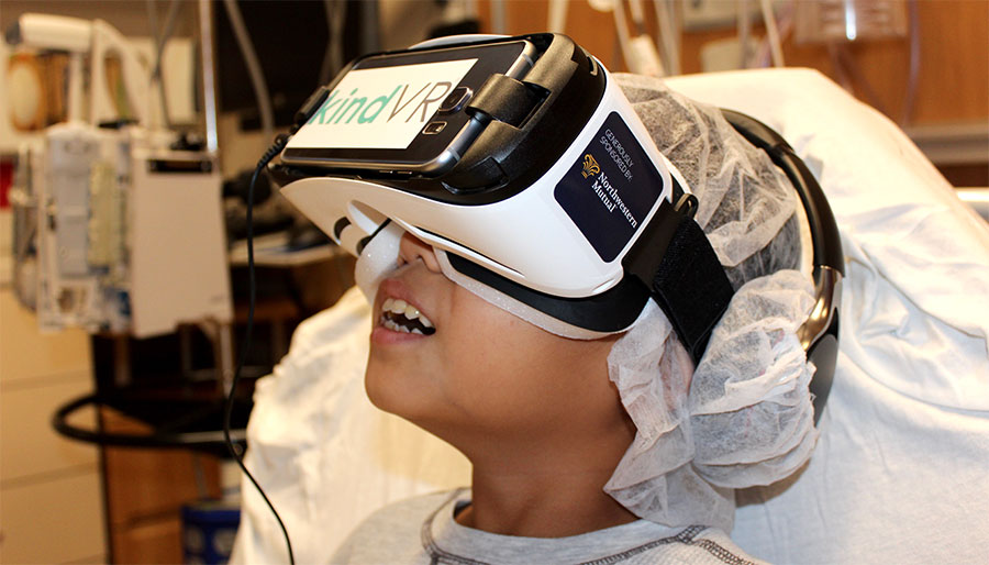 11-year-old Toben, a patient at Children's Hospital of Wisconsin, tried out virtual reality earlier this year  ( Image via CHW Blog )