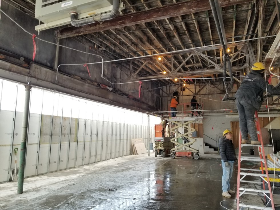 2-21-19 Service-Parts-Offices area ceilings & walls removed.jpg