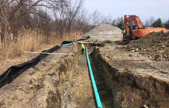 """4-11-19 Continue Installing New 6"""" Pipe for Pike House Sewer Line Relocation  .jpg"""